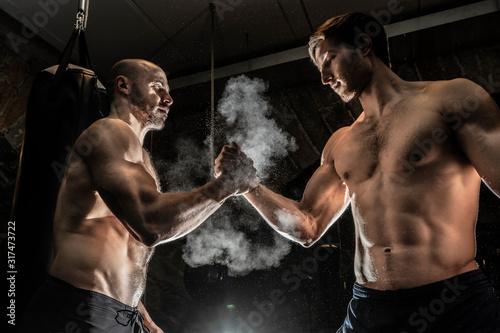 Valokuva Handshake arm wrestling style