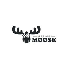 Smart Moose Logo Animal Deer E...