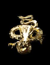 Graphic Gold Brass Dragon Gain...