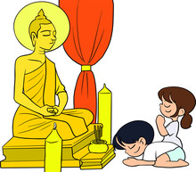 Children Pay Respect To Monks ...