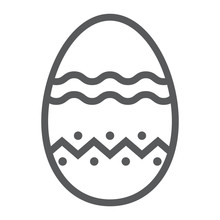 Easter Egg Line Icon, Easter A...