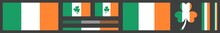 Ireland Flag Icon Green White ...
