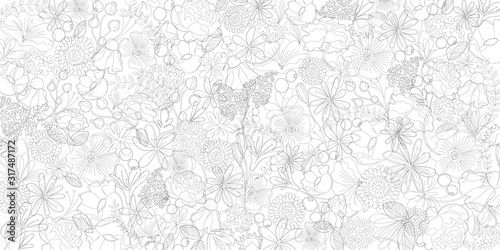 Obraz Line Art  Flower,Black,Textuer Banner,Simple,Beautiful - fototapety do salonu