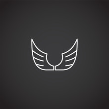 Wing Related Icon On Backgroun...