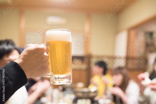 ビールで乾杯 Canvas Print