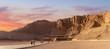 Leinwanddruck Bild - Temple of Queen Hatshepsut, View of the temple in the rock in Egypt