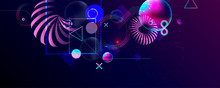 Vector 3d Futuristic Neon Spac...