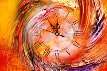 Clock In A Whirlpool On An Ora...