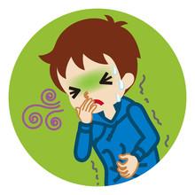 Toddler Boy Suffering From Nau...