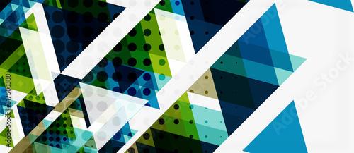 Obraz Vector triangle geometric abstract composition background. Retro vector illustration. Ornament illustration - fototapety do salonu