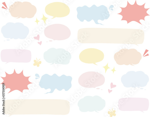 Photo 手書き風カラフル吹き出し【フチ無し】  Handwriting style『 Speech bubble:colorful』