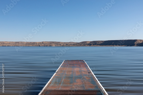 Boat slip on the Green River, Wyoming