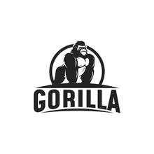 Gorilla Logo Design Illustrati...