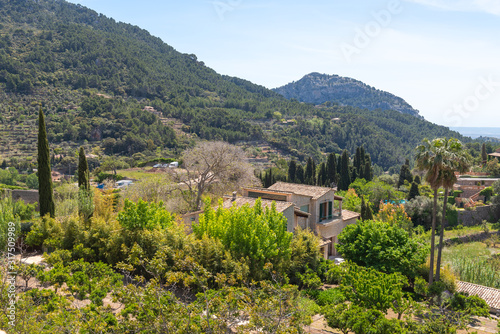alldemossa, rural town in an idyllic valley in the midst of the Tramuntana mountains of west Mallorca. Baelaric islands, Spain