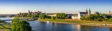 Krakow, Poland. Wide Aerial Pa...