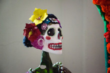 Mexican Catrina In Day Of The Dead