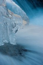 Ice On River, Visdende Valley,...