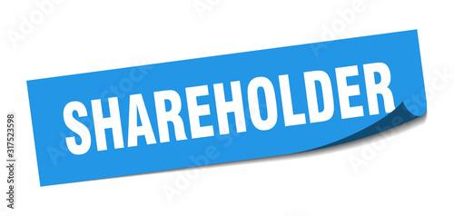Fotomural  shareholder sticker. shareholder square sign. shareholder. peeler