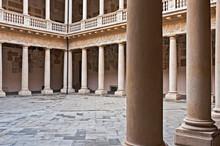 The Old Courtyard Of Palazzo Del Bo In Padua,Veneto, Italy