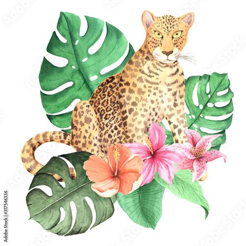 akwarela-dzikiego-lamparta-zwierze-z