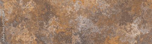 Fotografia Rusty brown metal background