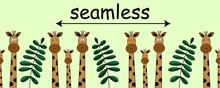 Seamless Horizontal Kids Flat ...