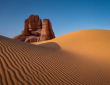 Dune Formation In Arid Desert