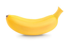 Baby Banana Isolated On White ...