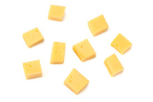 Cheese Slices Isolated On Whit...