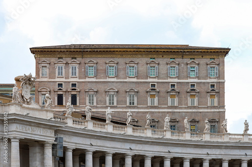 Photo Apostolic Palace, in the Vatican, close-up.