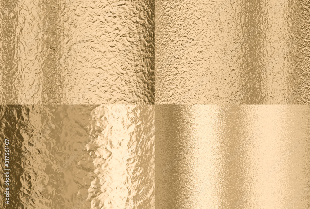 Fototapeta gold hammered effect background, four different solutions