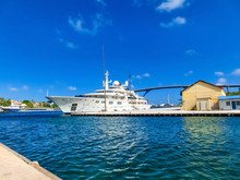 Massive Luxury Yacht Docked Ne...