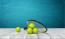 3d Rendering Of Tennis Racket ...