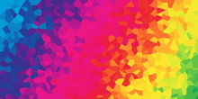 An Abstract Mosaic Rainbow Gradient Background Banner.
