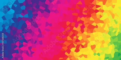An abstract mosaic rainbow gradient background banner. Slika na platnu