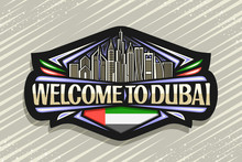 Vector Logo For Dubai, Black D...