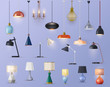 Modern lamps, home illumination chandeliers