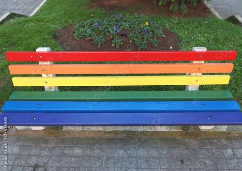 banco arco iris Canvas Print