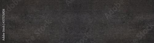 Fototapeta Black stone concrete texture background anthracite panorama banner long obraz