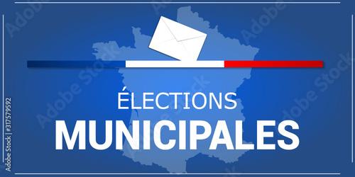 Fototapeta élections municipales 15 et 22 mars 2020 obraz