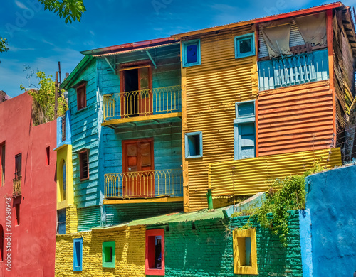 Valokuvatapetti Colorful Caminto street scenes in La Boca, the oldest working-class neighborhood of Buenos Aires, Argentina