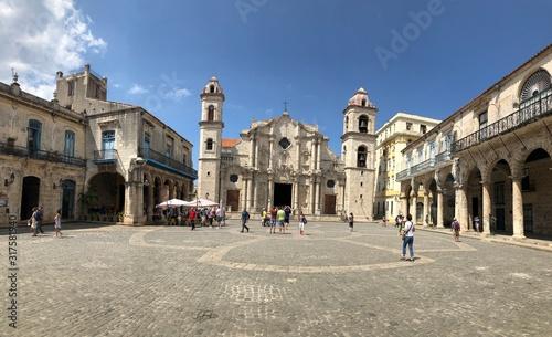 Fotografie, Obraz Placa de la catedral - La Habana - Cuba