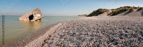 Grande marée en Baie de Somme Canvas Print