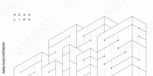 Fototapeta Abstract geometric technological background. Vector creative design. obraz