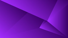 Polygon Triangle In Purple Vec...