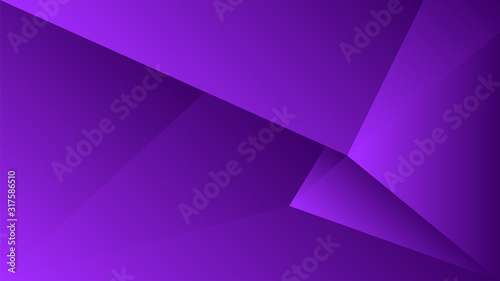 Polygon triangle in purple vector gradient background