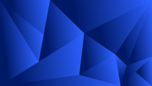Polygon Triangle In Dark, Blue Vector Gradient Background