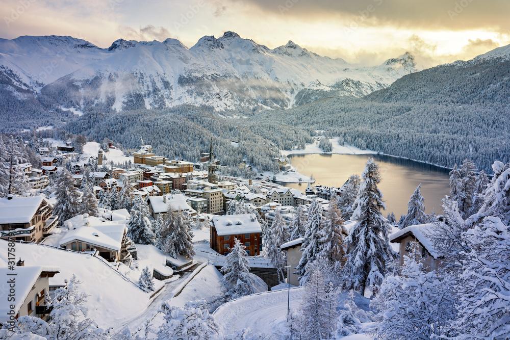 Fototapeta St. Moritz, Switzerland