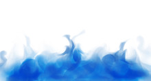 Thick Blue Smoke. Realistic Blue Fog. White Background. Abstract Vector Illustration. Isolated. Illustration Can Be Used As Banner Or For Advertising. Blue Liquid Evaporates. Water.