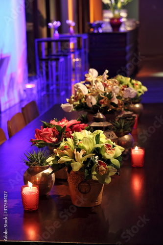 Photo bright and decorated for party
